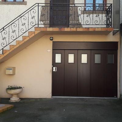 Installation d''une Porte de Garage latérale motorisée - La Chèze - Secteur Loudéac