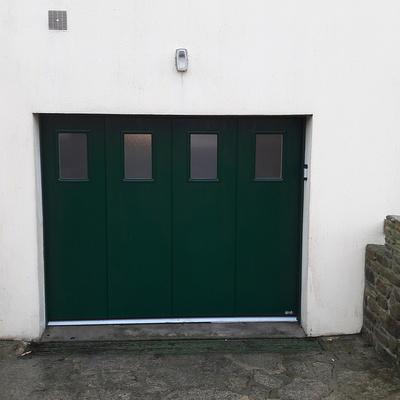 Porte de Garage latérale motorisée Plouguenast (22) - Secteur Loudéac