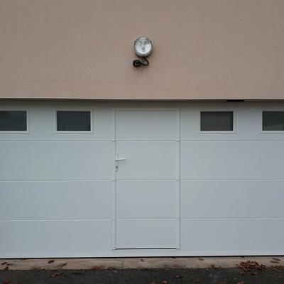 Porte de Garage Motorisée sectionnelle - St Gonnery - secteur Pontivy