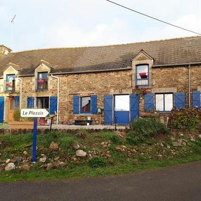 Rénovation fenêtre et porte d''entrée aluminium bleu - La Prénessaye - Bretagne