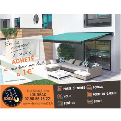 1 store terrasse acheté : le moteur ou éclairage LED à 1€
