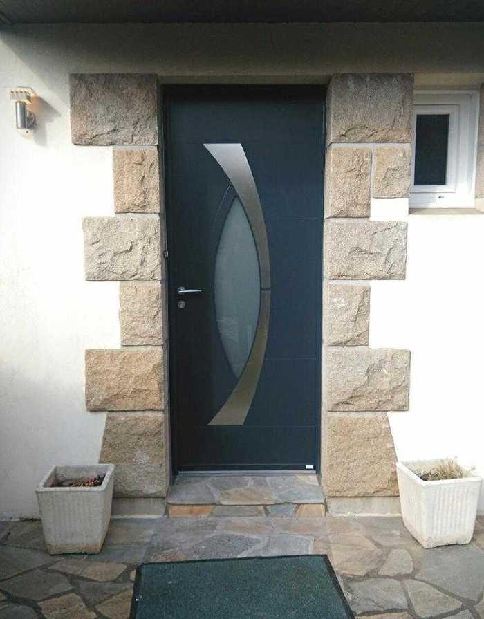 Porte d''entrée en aluminium - Loudéac - 22 1102
