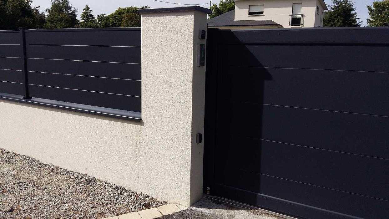 Portail Aluminium électrique - Loudéac (22) portail