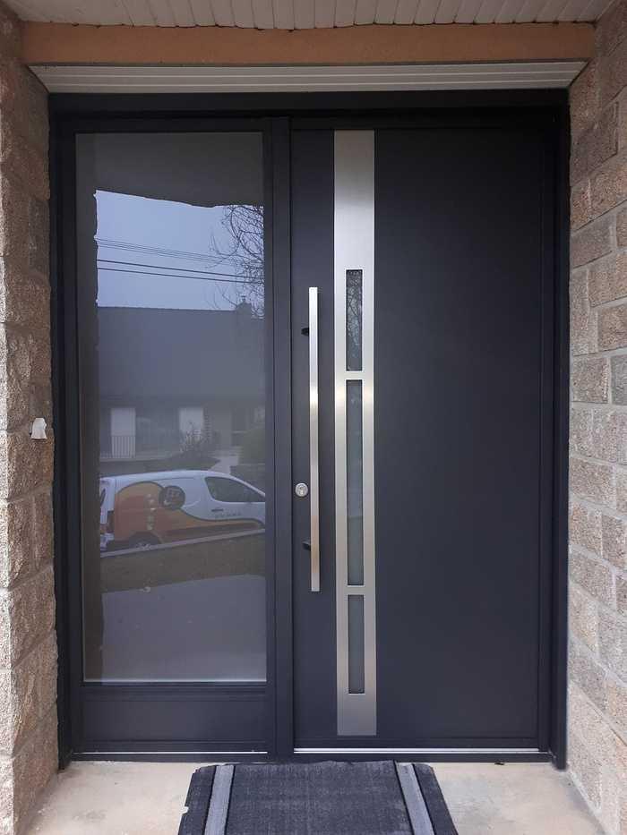 Porte d''entrée aluminium K.Line - Loudéac (22) 0