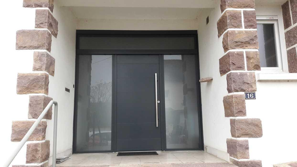 Installation d''une porte d''entrée K.Line à Loudéac (22) portek-line