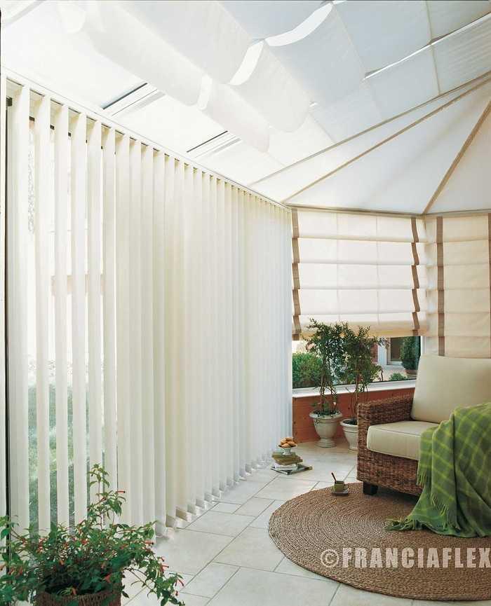 Store pour véranda : Vénitien, Bateau ou Plissé - Franciaflex veranda