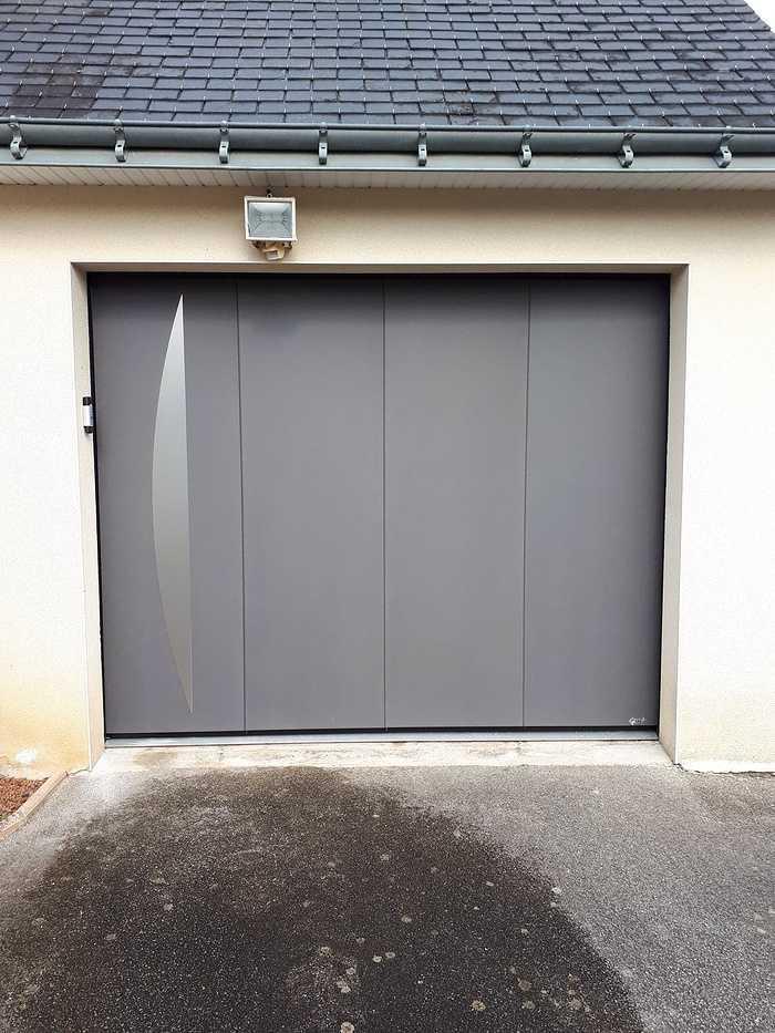 Installation porte de garage latérale motorisée- Loudéac -22 0