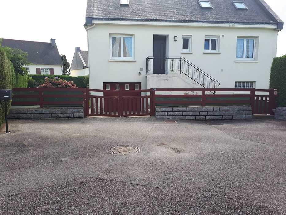 Portail, Portillon et Clôture aluminium à Loudéac 172