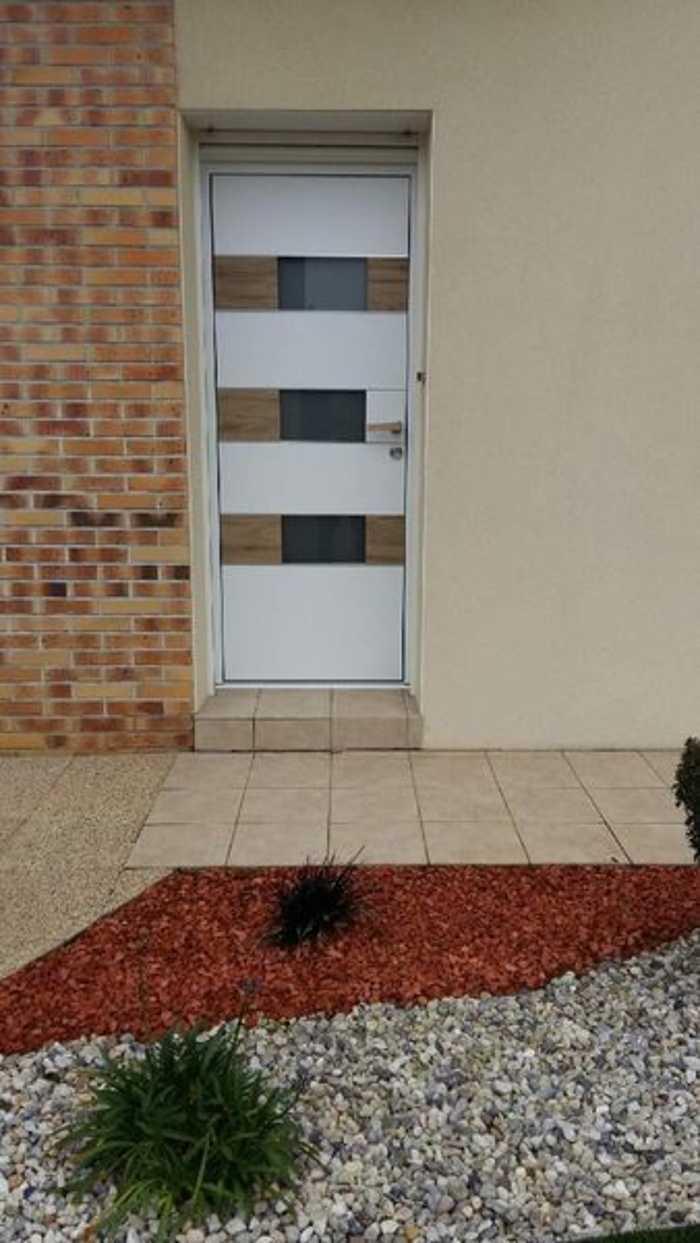 Pose porte d''entrée aluminium K.Line avec décor céramique - Loudéac 12359462217308312437646522999917019051991877o