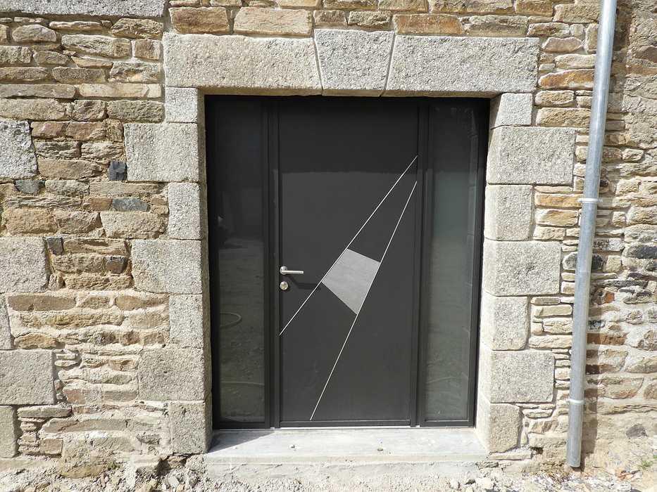 Longère à Plouguenast (22) Fenêtres Aluminium: noir sablé 2100 179