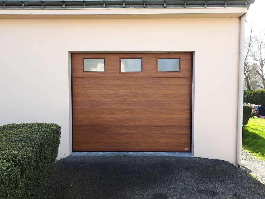 Porte de garage chêne doré - Rohan 0